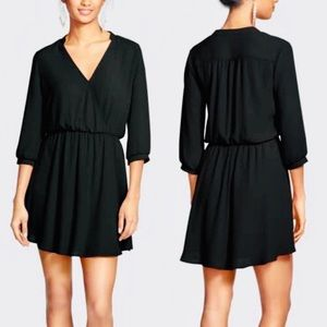 Lush Black Wrap Dress